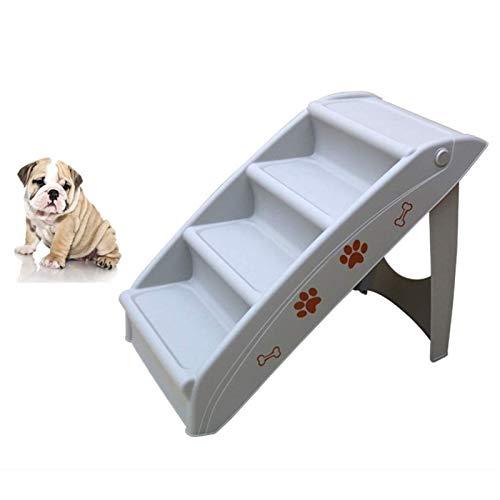 HEMFV Perro escaleras de Mascotas 4 Pasos Escaleras for el pequeño Perro casa del Gato del Perro casero de rampa de Escalera Antideslizante extraíble Perros Cama Plegable for Mascotas Escaleras
