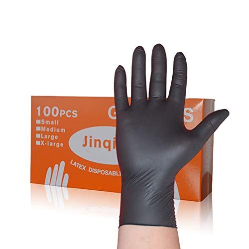 Wegwerp-nitril handschoenen, zwart, sterk en goed elastisch, geschikt voor catering metzger, 100 per doos