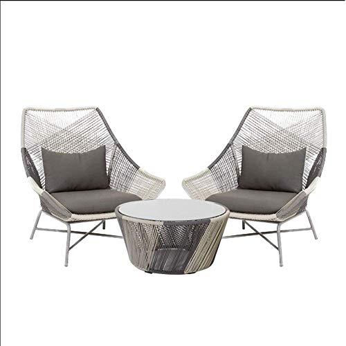 AOLI Muebles de exterior Sofá de ratán silla moderna Balcón Jardín Conjunto Courtyard Hotel Rattan sofá de la silla de combinación