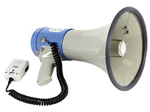 Veka–Megáfono con sirena (25W, volumen regulable, silbato bandouillere
