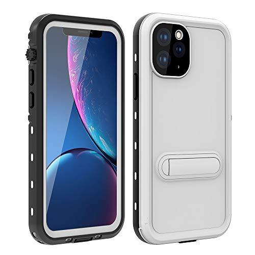 Haiqing Funda resistente a prueba de golpes, resistente al agua, con protector de pantalla integrado, compatible con iPhone 11 Pro (5,8 pulgadas). Color: Blanco