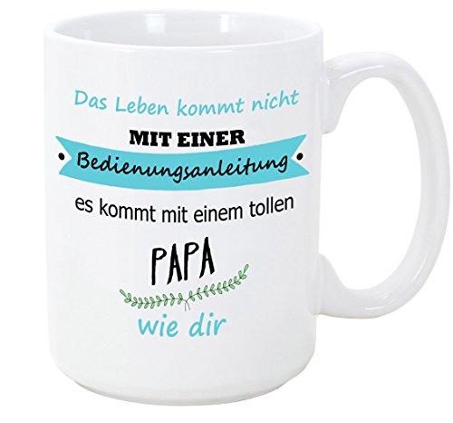 Mugffins Papa Tasse/Becher/Mug - Bedienungsanleitung - Kaffeetasse als Vatertagsgeschenk. Keramik 350 ml