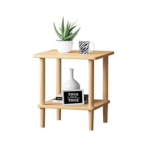 Yyqx Mesita de noche cajón con estante gabinete de mesa auxiliar unidad de almacenamiento de madera sala de estar sofá armario de noche