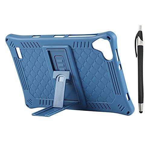 Lopbinte Funda para Tableta para Teclast P80 P80X P80H Funda de Silicona AnticaíDa de Tableta de 8 Pulgadas Soporte de Tableta con LáPiz Capacitivo (Azul)
