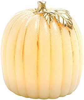 Sterno Home CGT23419SV Candle Impressions Cream Pumpkin with Gold Glitter, 3.75 x 4.5, 3.75-inch by 4.5-inch