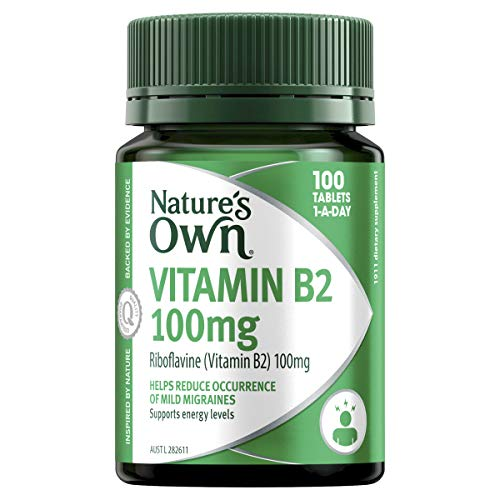 Nature's Own Vitamin B2 100mg - Supports energy Levels - Helps the body metabolise carbohydrates and proteins, 100 Tablets