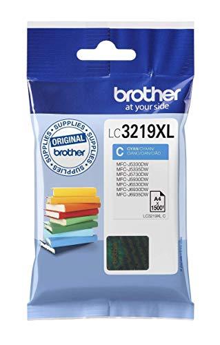 Brother LC3219XLC Cartucho de tinta cian original de larga d