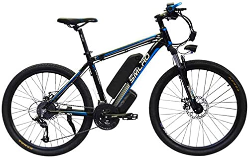 Ebikes Electric City Bike 26'' E-Bike Removable 48V/10Ah Lithium-Ion Battery 21-Level Shift Assisted Mountain Bike Dual Disc Brakes Three Working Modes Bicycle for Commuting ZDWN