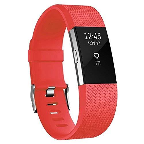 shuxun Vervangende Sport Band Compatibel voor Fitbit Charge 2, Vervangbare Polsband, Siliconen Armband