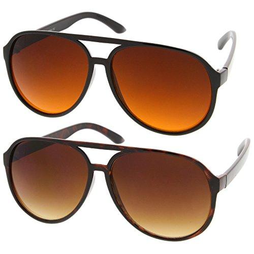 Oversized Plastic Frame Aviator Sunglasses. Retro 80s Style for Adults