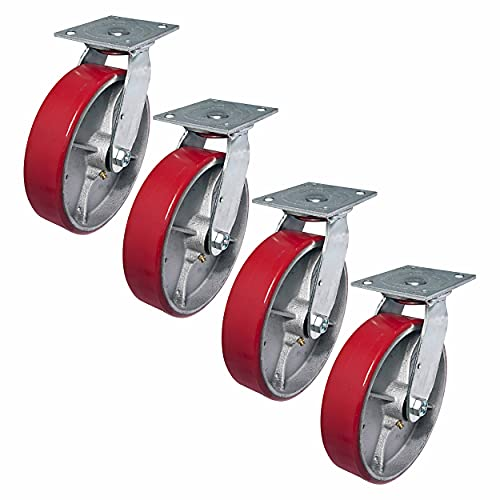 """Linco 8"""" Heavy Duty Polyurethane Caster Wheel 