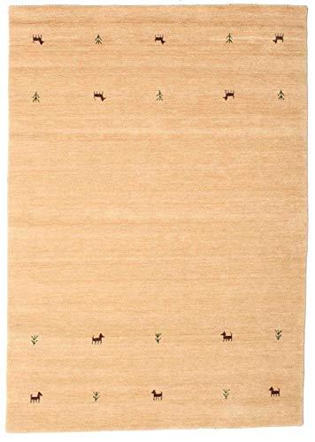 CarpetVista Gabbeh Loom Two Lines - Beige Teppich 160x230 Orientteppich