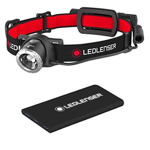 LED Lenser Lampe Frontale H8R & Power Bank - Noir