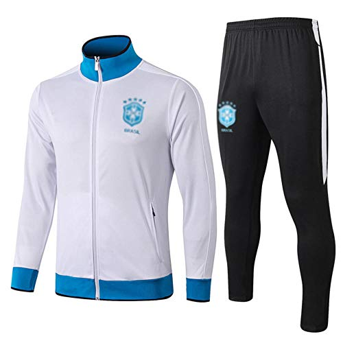 MVNTOO Club de fútbol Europeo, Traje de Chaqueta de fútbol para Hombre, Camiseta de Entrenamiento, Hecho por fanáticosff- - Fútbol989-blanco_L