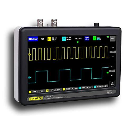 KKmoon ADS1013D Touchscreen Oscilloscopio Digitale Portatile 2 Canali 100 MHz Larghezza di Banda 1GSa / s con Tre Tipi Trigger Mode,Schermo LCD TFT a Colori da 7 Pollici Risoluzione 800 * 480