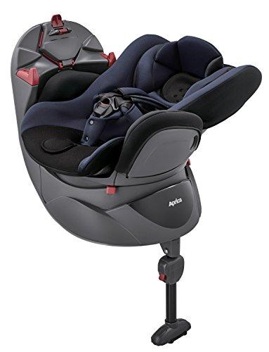 Aprica(アップリカ) シートベルト固定 新生児から使える回転式チャイルドシート ディアターン プラス AB ネイビー 0か月~ (1年保証) 2022072