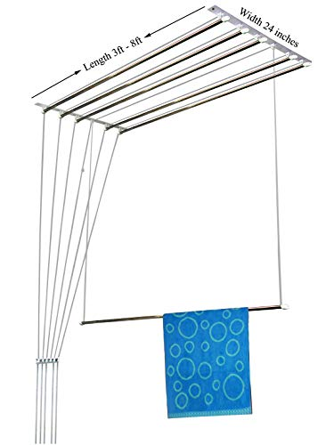 Rainbow Drywell Luxury 6 Pipes 6 Feet Stainless Steel Cloth Dryer/Clothes Hanger