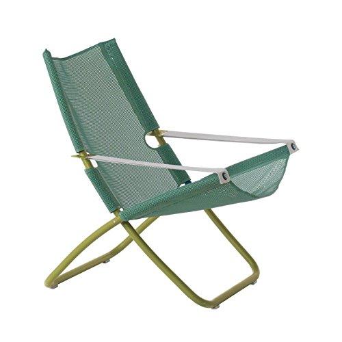 EMU Liegestuhl Snooze Color grün Mint aus Stahl lackiert Garten Außen