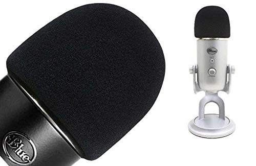 Windscreen/Pop Filter/Foam Cover for Blue Yeti USB Microphone Mic, Made of Premium Quality Material Blocks Unwanted Wind or Breathing Noise