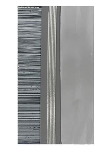 Pracht Creatives Hobby 7074-20465 Verzierwachsplatten Mix grau / silber, 3 halbe Wachsplatten, ca. 200 x 50 x 0,5 mm und ein Wachsstreifen, zum Modellieren und Verzieren von Kerzen