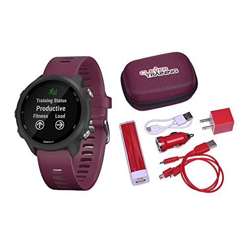 Buy Bargain Garmin Forerunner 245 Berry Clever Training Power Bundle