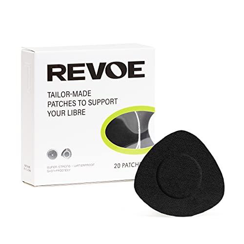 REVOE Libre Patch 20x - Sport-Pflaster für Freestyle Libre 1, 2 & 3 - mehr Farben erhältlich (Black)