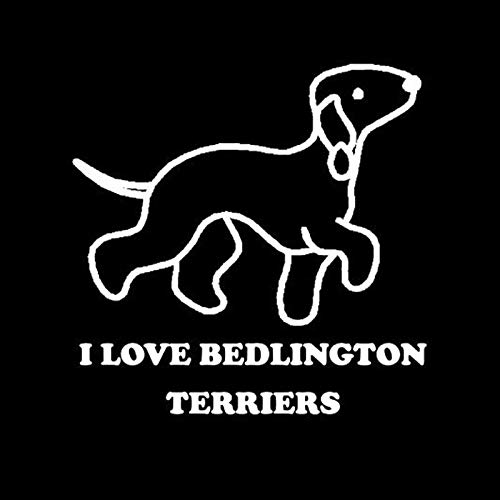Personalized Car Stickers I Love BEDLINGTON Terrier Dog White Car Stickers Motorcycle Decals Sunscreen Waterproof 12cmX12cm