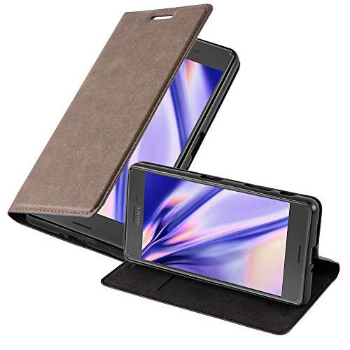 Cadorabo Hülle für Sony Xperia X Performance - Hülle in Kaffee BRAUN – Handyhülle mit Magnetverschluss, Standfunktion & Kartenfach - Hülle Cover Schutzhülle Etui Tasche Book Klapp Style