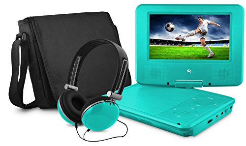 """Ematic 7"""" Portable DVD Player with Matching Headphones and Bag - EPD707TL"""