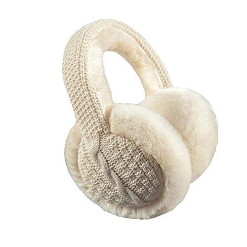 Black Temptation Winter Zubehör Unisex Stilvolle Ohrenschützer Ohrenwärmer Plüsch Warm Knit Cover Strickgarn #30
