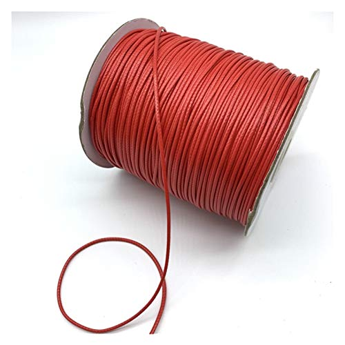 XIAOXINGXING 0.5mm 0.8mm 1mm 1.5mm 2mm Red Waxed Cotton Cord Waxed Thread Cord String Strap Necklace Rope For Jewelry Making (Color : 1, Size : 1.5mm 10yards)