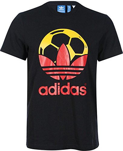 adidas Herren T-Shirt Country XS Schwarz Rot Gold