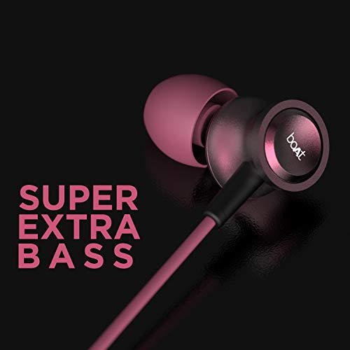 boAt Bassheads 152 in Ear Wired Earphones with Mic(Maroon Mirage)