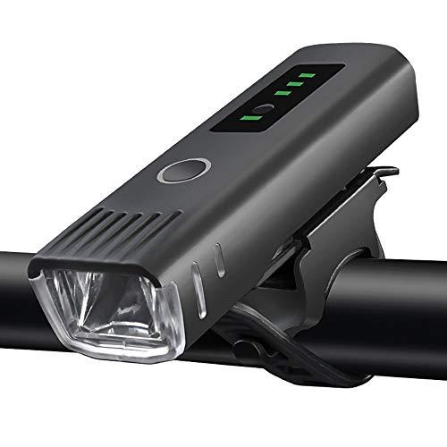 YZSL USB Opladen Inductie Fiets Koplamp, met Batterij Capaciteit 2000mAh, LED Waterdichte Fiets Koplamp, met 400 Lumen, Geschikt voor Outdoor Rijden, Zwart