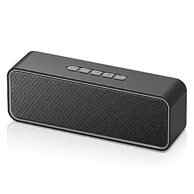 Sonkir Portable Bluetooth Speaker, Bluetooth 5.0 Wireless Speaker with 3D Stereo Hi-Fi Bass, Built-in 1500 mAh Battery, 12H Playtime (Grey) from Sonkir