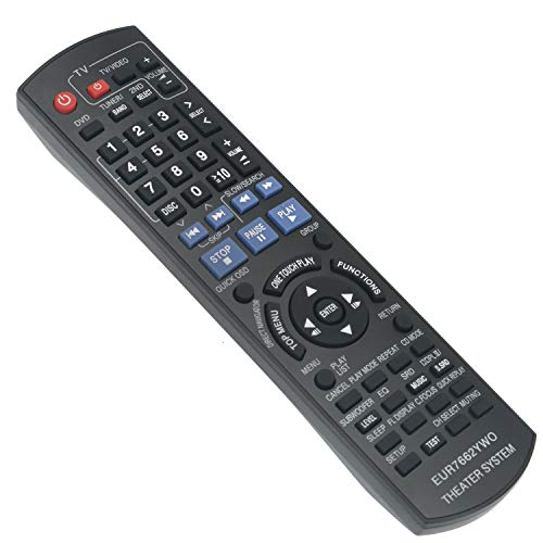 New EUR7662YW0 Replace Remote Control fit for Panasonic DVD Home Theater Sound System SC-PT750 SC-PT753 SC-PT950 SC-PT1050 SC-PT953 SA-PT950 SA-PT1050 SA-PT750P SA-PT750PC SA-PT753 SA-PT950P