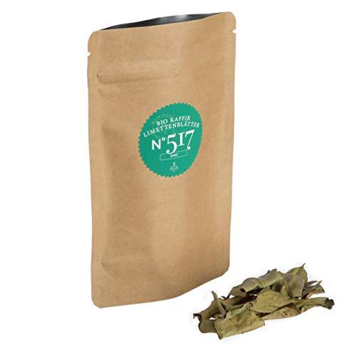 Bio Kaffirlimettenblätter N°517   Großpackung 500g  ganze Blätter  blumig & zitronig frisch