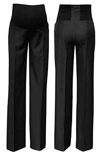 Zeta Ville - Femme maternité pantalon style workwear empiècement extensible 246c