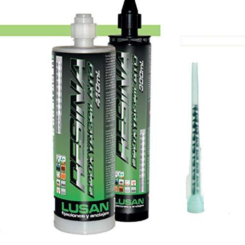 Bricoloco Adhesivo taco químico Epoxyacrilato. Resina extra multimaterial. Trabajo en seco, húmedo e inundado. Bricolaje, obra, climatización, instalaciones eléctricas, agricultura