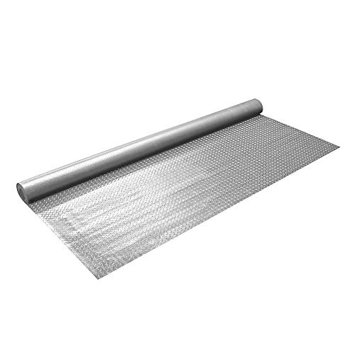 IncStores 2.5mm Thick Commercial-Grade Nitro Roll Garage Floor Mat | Flexible Vinyl Floor Mat for a Stronger and Safer Garage, Workshop, or Trailer | Diamond-Plate, Stainless Steel, 7.5' x 17'