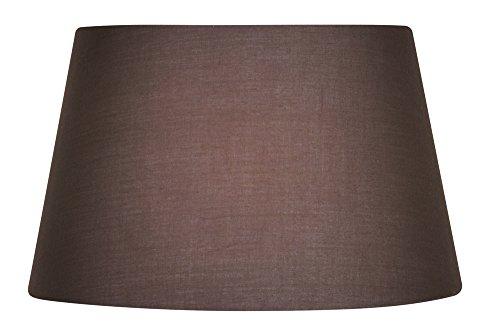 Oaks Lighting Lampenschirm, trommelförmig, aus Baumwolle, 30,5cm Klassisch Mushroom Brown