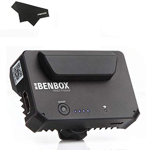 INKEE Benbox Video Transmitter, drahtlose 5.8G WiFi Live-Übertragung auf 3 Geräte, 1080p WiFi HDMI, 100 m Reichweite, Unterstützt Android/iOS/Windows/Mac