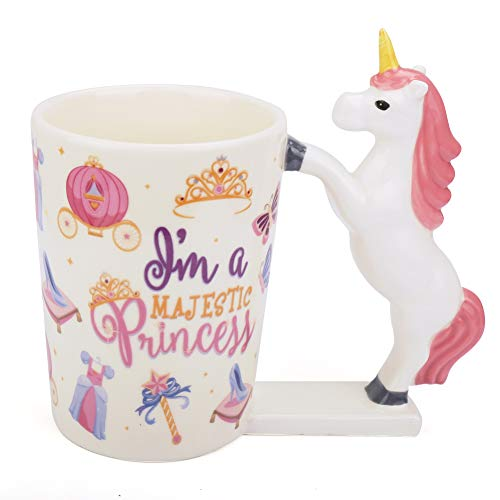 Unicorn Mug for Girls,Women Valentine's DayGift,12oz Cute 3D Unicorn Coffee Mug,Ceramic Morning Tea Cup with Handle,MagicalRainbow Tumbler Ornaments,Novelty Unicorn Birthday for Kids,Unicorn Lover