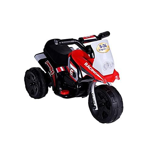 Nuevo truco de salto de coche eléctrico para motocicleta, triciclo para niños, batería para coche, coche, carro, carro, motocicleta, scooter eléctrico, bicicleta, triciclo, color rojo