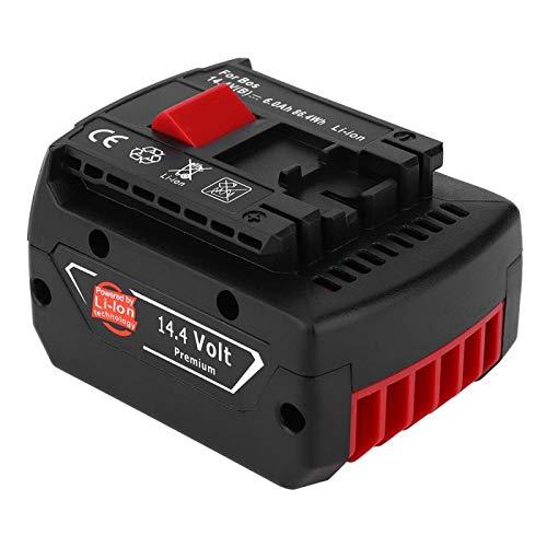 Batería recargable, batería recargable de iones de litio BAT607 de 14,4 V, apta para taladro inalámbrico de herramientas eléctricas (6000 mAh)