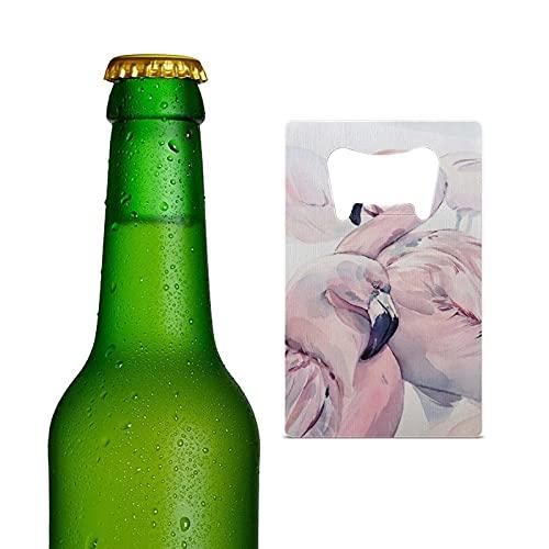Abrebotellas de cerveza de tamaño de tarjeta de crédito duradero, abrebotellas de acero inoxidable portátil para cocina, bar, restaurante, boda, fiesta, flamenco