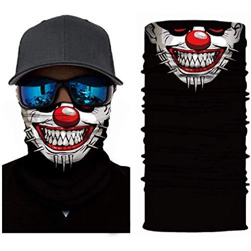Schlauchschal aus Mikrofaser | Schlauchtuch | Neckwarmer | Halstuch | Bandana | Multifunktionstuch | Face Shield | Mundmaske | Motorradschal | vielseitig und in verschiedenen Farben (Clown)
