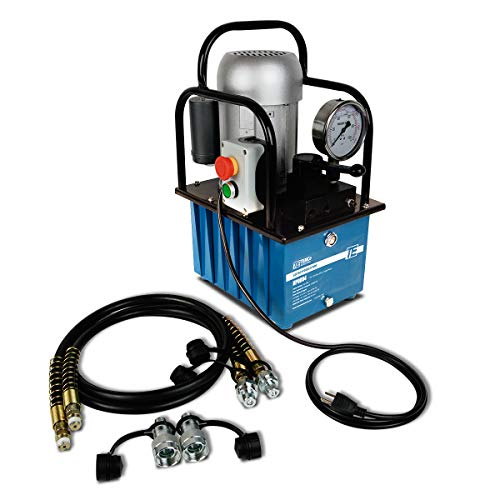 TEMCo HP0004 - Electric Hydraulic Pump Power Pack Unit 2 Stage Double Acting 110v 10k psi 488 Cubic in Capacity