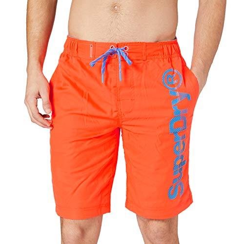 Superdry Mens Classic Boardshort Board Shorts, Volcanic Orange, XL