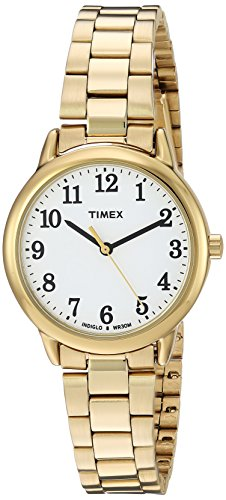 Timex Women's TW2R23800 Easy Reader Gold-Tone/White Stainless Steel Bracelet Watch